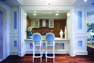 这就是我们美国居梦园别墅豪宅装修地中海风格的实木家居的特别有情趣之一了,因而在家居中是很重要的设计元素,精简大气的线条是构造形态的..