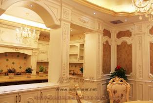 居梦园欧式厨房装修效果图,打造奢华又精美绝伦的厨房秘诀,是现代家居的枢纽,不仅仅是为了好看,而是希望这个厨房能带给自己更好的生活——..