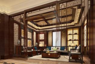 新中式风格追求一种修身养性的生活境界。中国传统室内装饰艺术的特点是总体布局对称均衡,端正稳健,而在装饰细节上崇尚自然情趣,以现代人的..